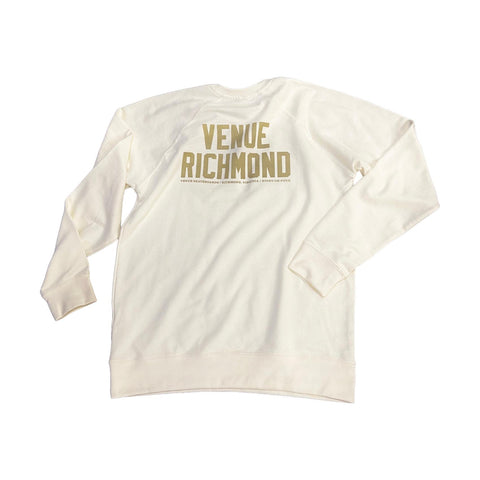 Venue Lightweight Terry Crew Neck Sweatshirt - Bone