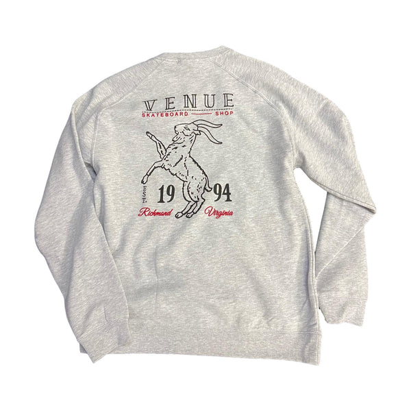 Venue Goat Crew Neck Sweatshirt - Grey