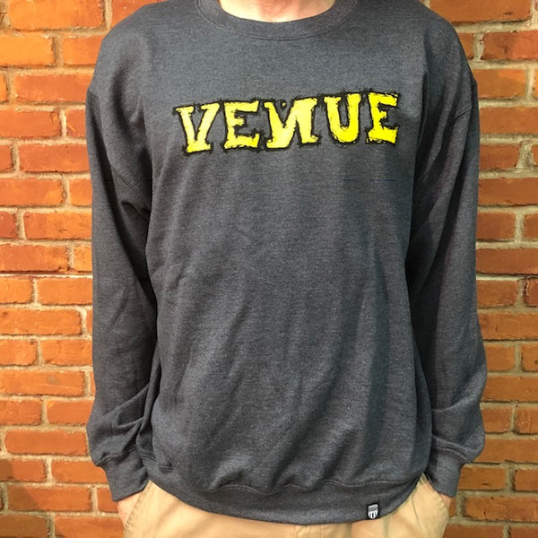Venue Scratchy Crew Neck Sweatshirt - Grey - Venue Skateboards