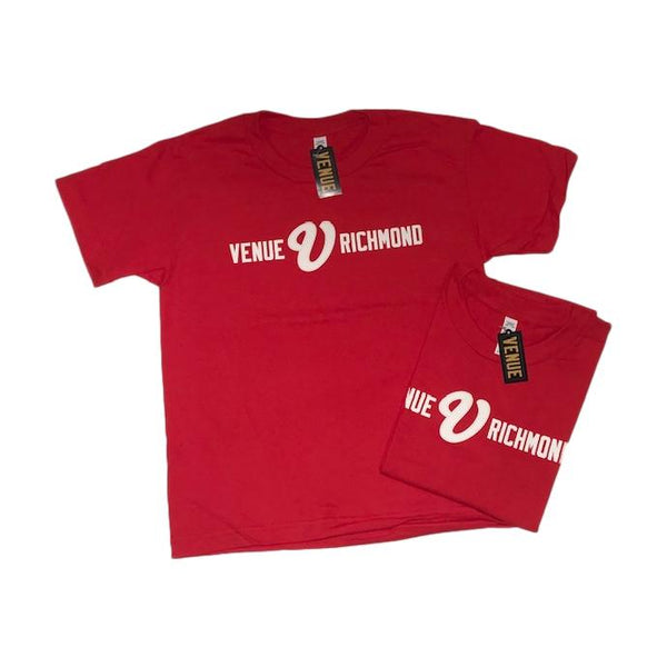 Venue Skateboards Bar Logo Youth T-Shirt Red