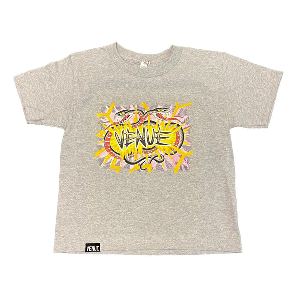 Venue Youth Snake T-Shirt Grey