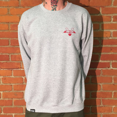 Venue Skateboards Crew Sweatshirt Grey
