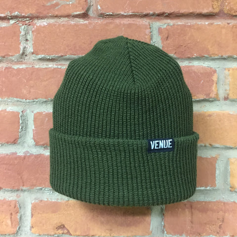 Venue Beanie Olive Drab - Venue Skateboards