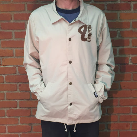 Venue Coaches Jacket Khaki - Front