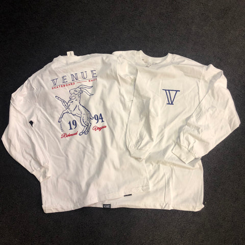 Venue Goat Long Sleeve T Front and Back