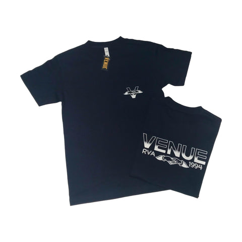 Venue Hands Logo T-Shirt Navy w/White Ink