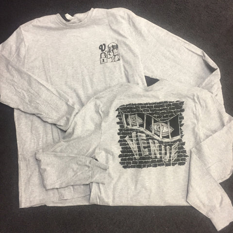 Venue Eyes L/S T-Shirt - Heather Grey - Venue Skateboards