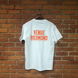 Venue Richmond Short Sleeve T - White w/orange ink