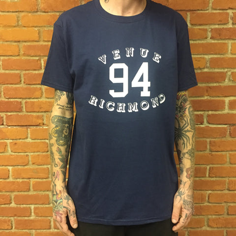 Venue 94 Logo Short Sleeve T-shirt Navy