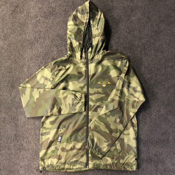 Venue Windbreaker Camo with Gold Ink Front