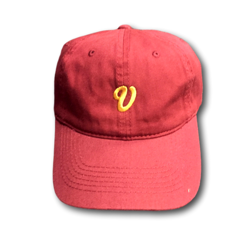 Venue Unstructured Hat - Burgundy - Venue Skateboards