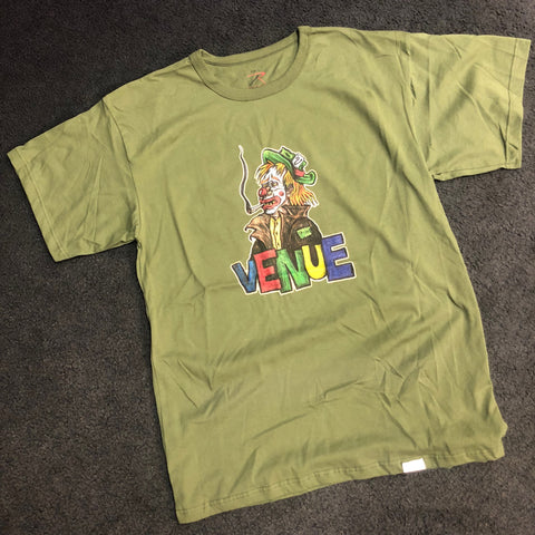 Venue Clown S/S T-Shirt - Green