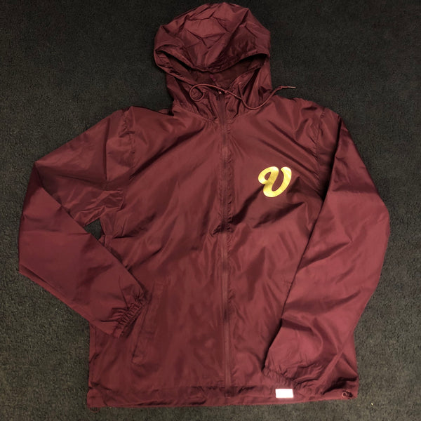 Venue Hooded Zip Windbreaker - Maroon