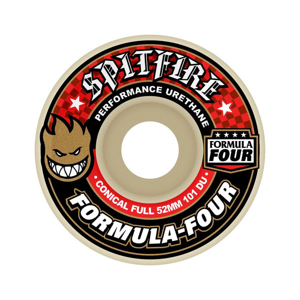 Spitfire F4 101a Conical Full 53mm White Red - Venue Skateboards
