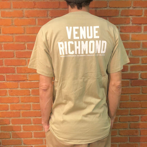 Venue Richmond Short Sleeve T - Tan - Venue Skateboards