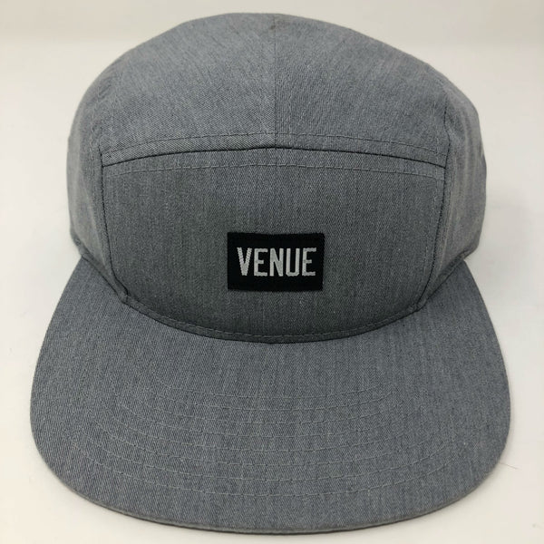 Venue 5 Panel Camper Hat - Grey Twill