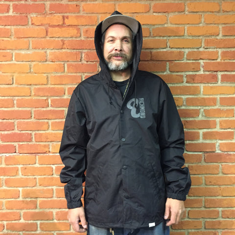 Venue Hooded Coaches Jacket - Black