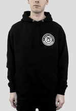 DEADLY BRAND® Circle design front print on black pullover hoodie