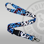 Deadly Bear Lanyard Blue bear keyring