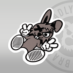 DEADLY. BUNNY Sticker 10cm