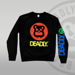DEADLY.™ Harlequin Sweat Top Black Jumper Deadly Brand