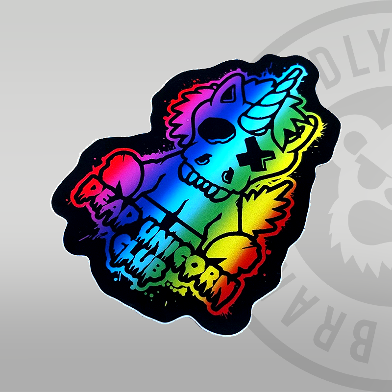 Dead Unicorn Club Spectrum Sticker 10cm