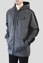 Deadly. Db Signature Zip Hoodie Grey