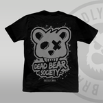 DEAD BEAR SOCIETY Black T-shirt (With Back Print)