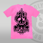 Dead Unicorn Club T-shirt Pink (With Back Print)