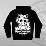 Dead Unicorn Club Zip Up Hoodie back print