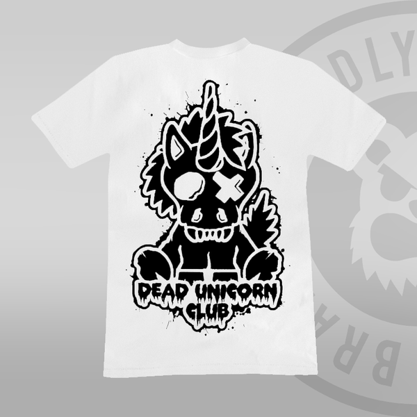 Dead Unicorn Club T-shirt White (With Back Print)