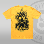 Dead Unicorn Club T-shirt Yellow Gold With Back Print