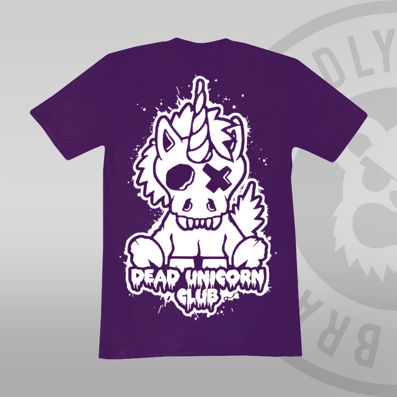 Dead Unicorn Club T-shirt Purple (With Back Print)