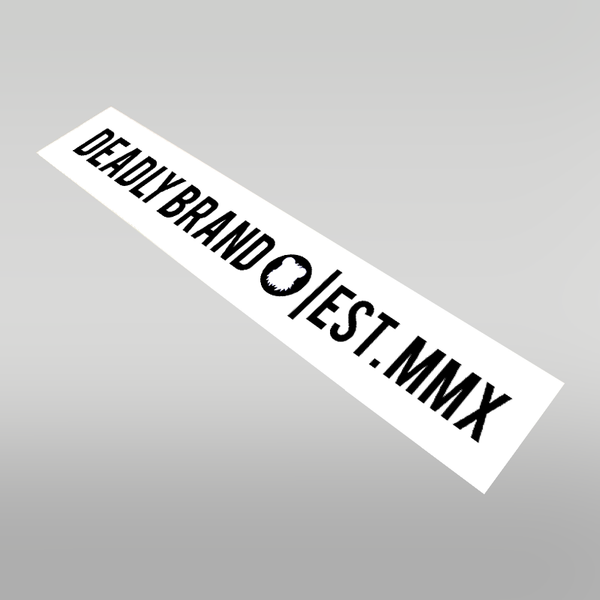 DEADLY BRAND Banner sticker 100cm