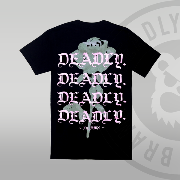 DEADLY. Floral T-shirt (With Back Print)
