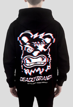 DEADLY BRAND® X GLITCH LIFE hoodie back print