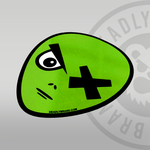 Deadly Alien Sticker