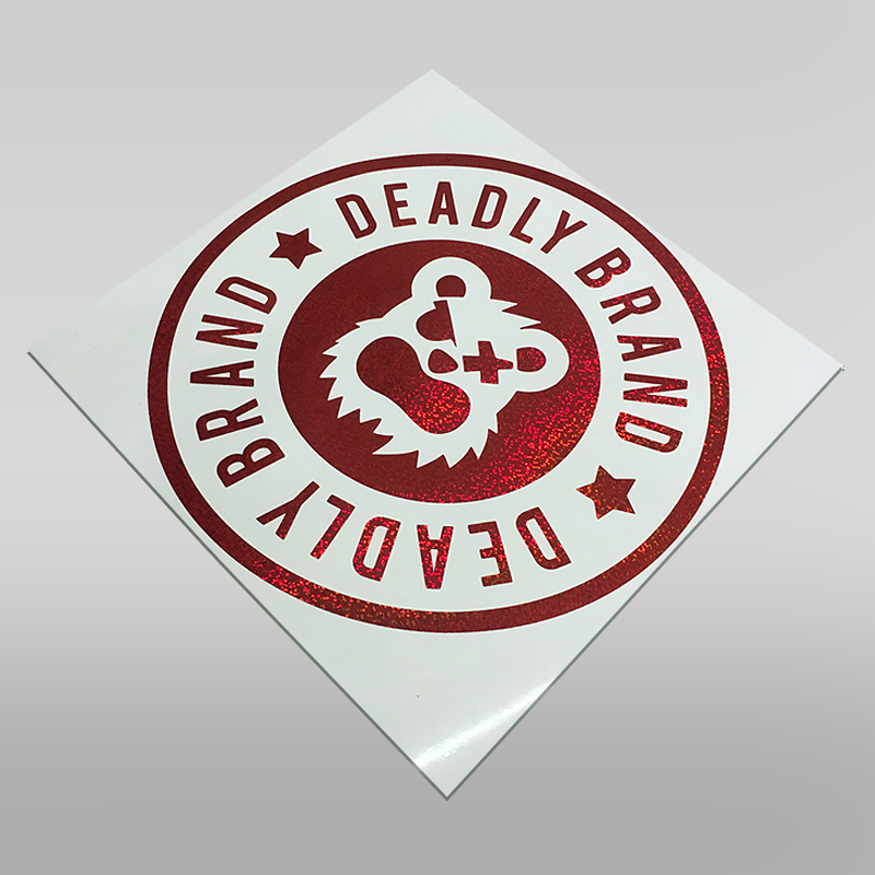 Deadly Brand Circle Sticker Decal Large