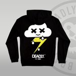 DEADLY. Cloud Hoodie by DEADLY BRAND back print sad cloud