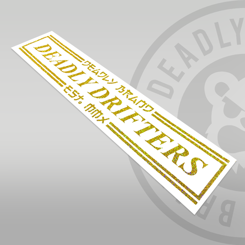 DEADLY DRIFTERS Sticker - Large 58cm - Deadly Brand Est. MMX Drift Sticker