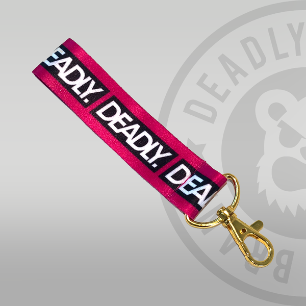Deadly Fabric Keyring Pink