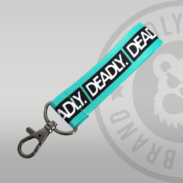 Deadly Fabric Keyring Turquoise