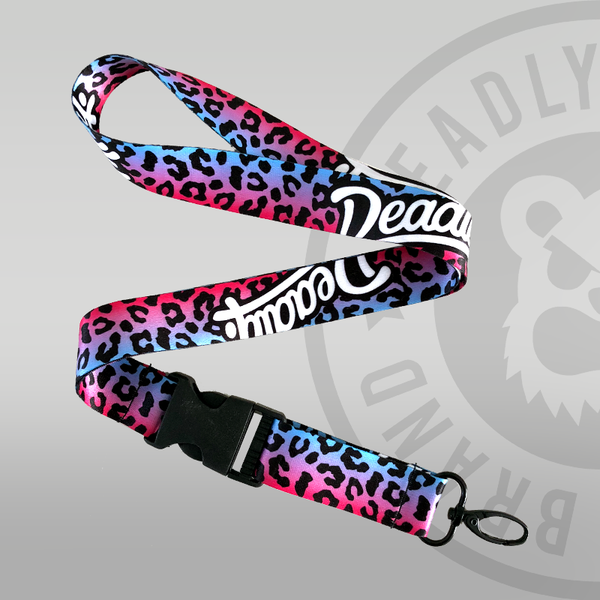 Deadly Leopard Print Lanyard Deadly Brand