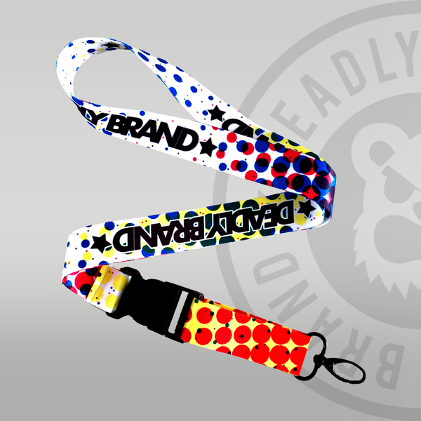 Deadly Halftone Lanyard full colour keyring deadly brand