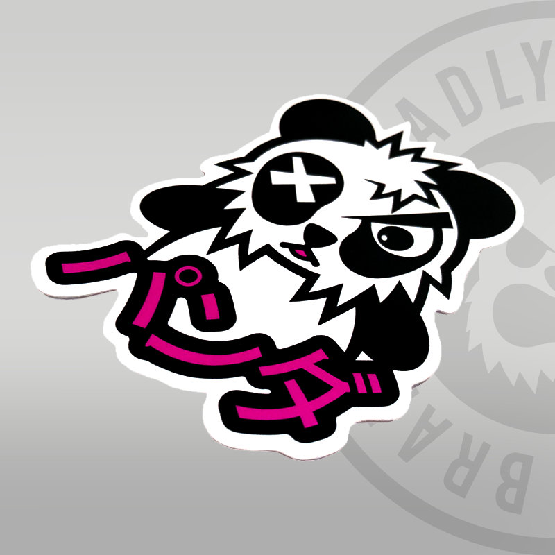 Deadly Panda Sticker 10cm