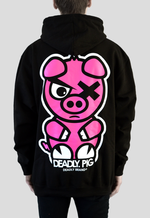DEADLY. PIG Pullover Hoodie Oversized back print piggy Deadly Brand