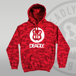 DEADLY. Red Camo Pullover Hoodie