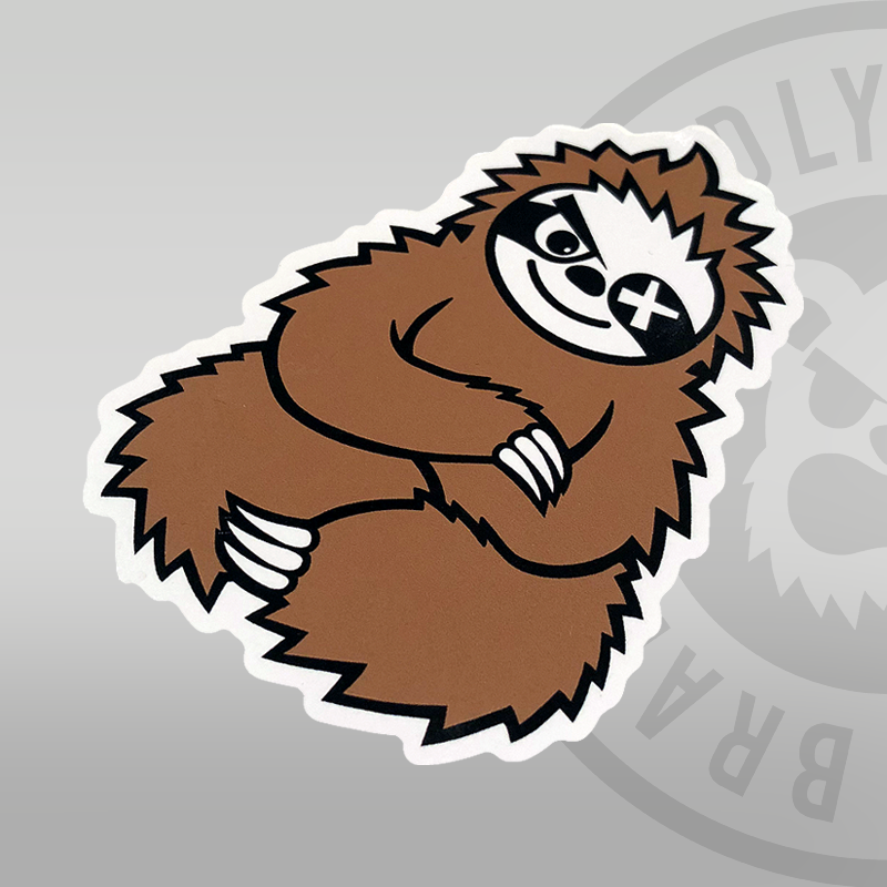 Deadly Sloth Sticker 10cm