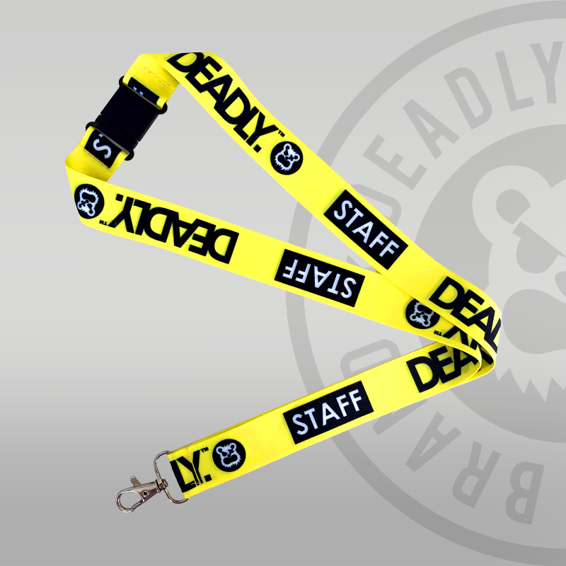 DEADLY. STAFF Lanyard