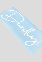 DEADLY. Signature Rear Windscreen Sticker - Large 58cm